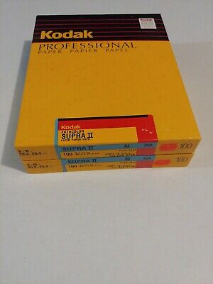 Kodak Ektacolor Supra II N RA 8x10 100ct Sealed Box old stock type 2839