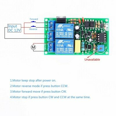 DC Motor Driver Board 10A 12V Forward Reverse Controller Self-locking