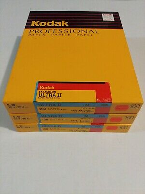 Kodak Ektacolor Ultra II N RA 8x10 100ct type 2839 old stock Sealed box