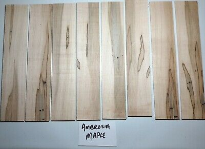 """Unsanded Craft Wood, Knife Scales, Bookmarks U Pick Species 1/8"""" x 1 5/8"""" x 8"""""""