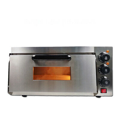 """2.2KW Electric Pizza Oven Single Deck Commercial Baking Oven 16"""" Fire Stone UK"""