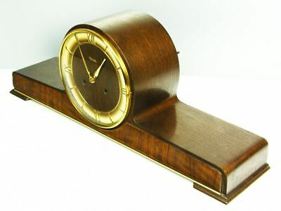 Pur Beautiful Art Deco Chiming Mantel Clock From Kienzle