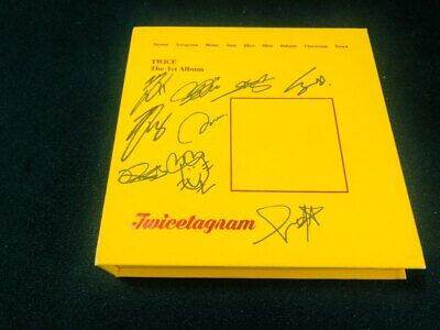 TWICE Album Autograph ALL MEMBER Signed PROMO ALBUM KPOP
