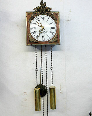 Old Wall Clock *LE COOR* Vintage Wall Clock Type  Little Comtoise