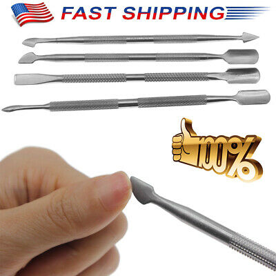1 Set Beauty Nail Care Cuticle Pusher Spoon Trimmer File Manicure Pedicure Tools