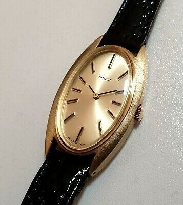 Rare Vintage Tissot Mechanical Ladies Watch~ Solid Silver with Gold Plating~WOW!