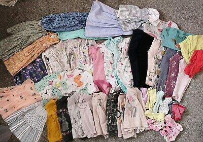 Baby Girls Clothing 47 Piece Bundle 18-24 Months Next H&M Leggings Tops Dresses