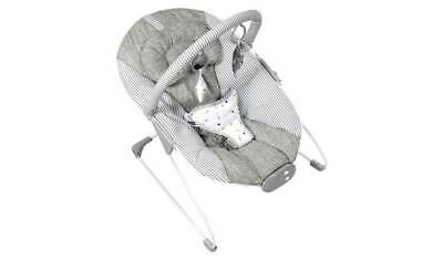 M25 Musical Vibrating Baby Bouncer Chair Linen Cozy Bounce Red Kite Grey