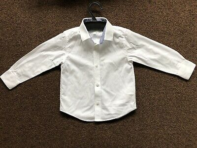 Debenhams RJR John Rocha Boys White Shirt With Collar Age 3 Formal Occasion