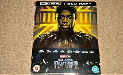 Black Panther 4K UHD+Blu Ray Steelbook (Lenticular Cover) WORLDWIDE SHIPPING