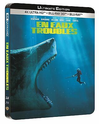 Edition Metal 4K + Blu Ray 3D + Blu Ray  * En Eaux Troubles - The Meg * Neuf