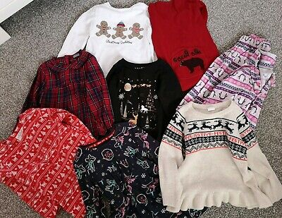 Girls Baby Christmas 9 Piece Clothing Bundle 18-24 Months Next H&M Dresses Tops