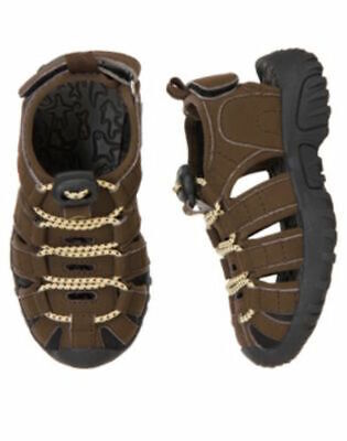 Gymboree Rescue Team Brown Sport Trail Sandals Shoes Boys 11 NEW NWT