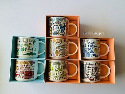 Disney Parks Universal Florida Starbucks Been There Series 2019 Ceramic Mugs Set