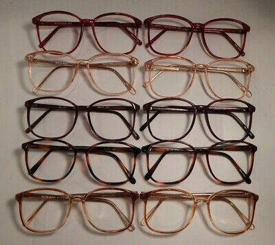 Vintage 10 Pc. Lot Elite Ryan Assorted Colors 52/17 Eyeglass Frame NOS #S21