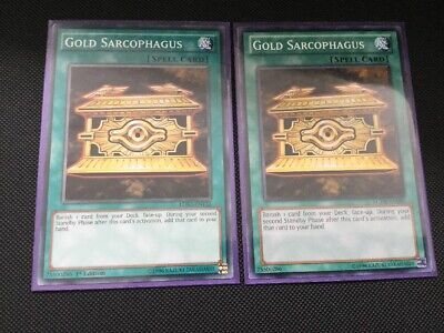 2x Gold Sarcophagus LDK2-ENY22/LCYW-EN080 Common 1st Edition YuGiOh