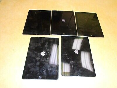 Lot of 5 AS IS Apple iPad Air 2 16GB/32GB/64GB Wi-Fi, 9.7in Space Gray Tablets