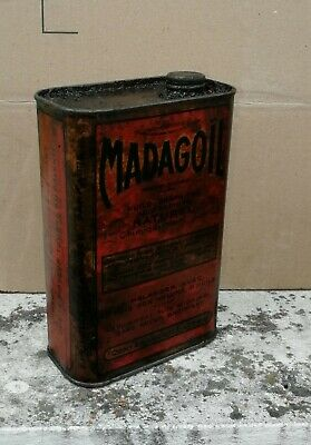 bidon huile ancien  MADAGOIL    Öl dose oil can tin collection