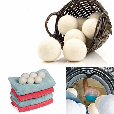 Reusable Laundry Clean Ball Practical Home Wool Dryer Balls Laundry Softener qw