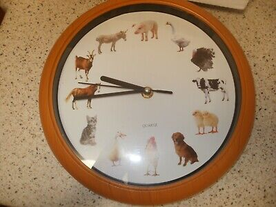 A Wild Time Animal Wall Clock, 12 Different Animal Sounds