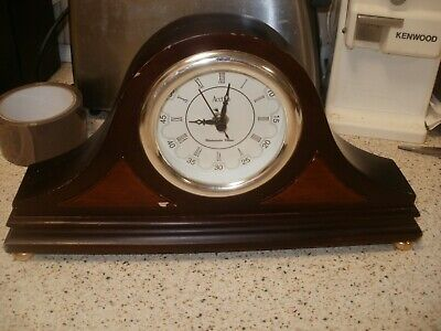 Vintage Acctim Wooden Mantel Clock With Westminster Chimes
