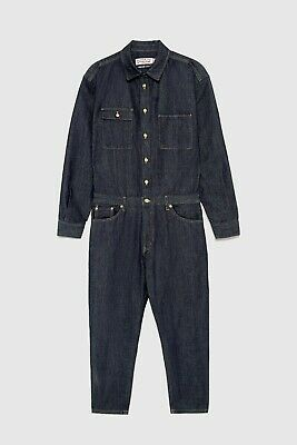 9450006b Zara Man Coverall Denim 0706/474 Suit Pant Blue Shirt Men Overalls Japanese  RL