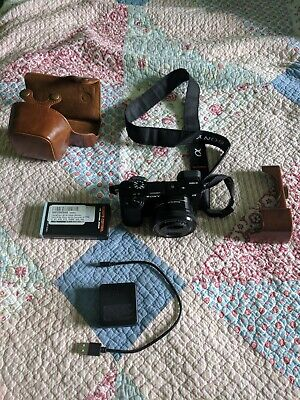Sony Alpha a6000 24.3MP camera with 16-50mm Power Zoom Lens and accessories
