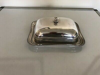 Very Nice Silver Plated Cheese Dish With A Glass Liner