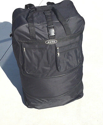 "Wholesale lot 4 Bags Travel Luggage Duffle 36"" Wheels Expandable 3 Sizes Black"