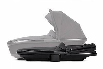 M48 Quinny Foldable Carrycot in Black Irony and Rain Cover