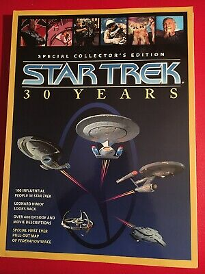 Star Trek 30 Years Special Collectors Edition 1996 Paramount 168 Pgs+ Map Poster