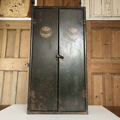 Vintage Industrial Green Macrome Tool Cabinet Wall mounted Cabinet