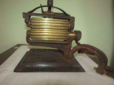 Rare Antique Victorian Crown Fabric Crimping Machine Dated 1880