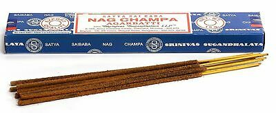 3 Packs Original Satya Sai Baba Nag Champa Incense Sticks  Joss Insense Genuine