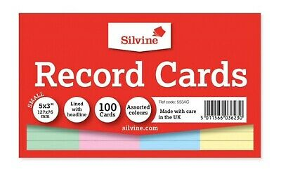 """NEW 48-50 REVISION PRESENTATION CARDS PLAIN OR COLOURED DOUBLE SIDED LINED 6x4/"""""""