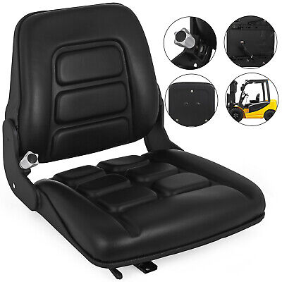 Suspension Forklift Seat Chair W/Auto Lock Tractor Headrest Machinery