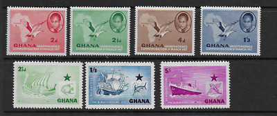 Ghana 1957 Independance Commemoration & Inaugoration Of The Black Star Line Mnh