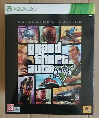GTA 5 V Collector's Edition Game XBOX 360 Grand Theft Auto PAL