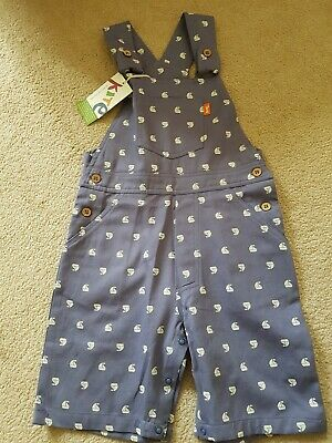 Kite Organic Cotton Sailboat Dungarees (Size 2-3 years) RRP £28 New