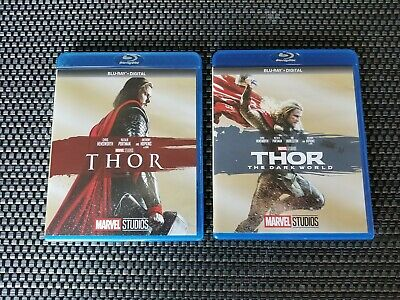 Thor 1 And 2 (The Dark World) Blurays + Digital Codes for both movies