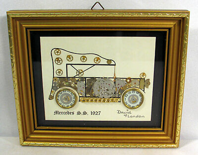 Mercedes S.S. 1927 David of London Horological Montage Watch Parts Framed