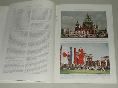 1937 BERLIN magazine article Germany Pre WWII people buildings etc color photos