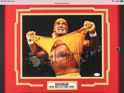 HULK HOGAN JSA authenticated signature HotSkins Wrestling