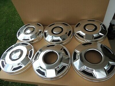 1979-1996 Ford Bronco F-150 Hubcaps 1/2 Ton Pick Up Trucks Oem Lot Of 6