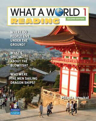 NEW What a World Reading 1 By Broukal Paperback Free Shipping