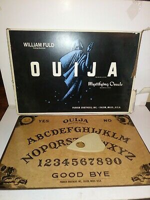 Vintage 1960s William Fuld Ouija Board Mystifying Oracle In Box With Planchette