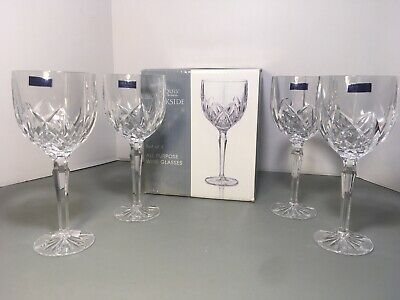 Marquis By Waterford Brookside Set Of 4 All Purpose Wine Glasses NEW Damaged Box