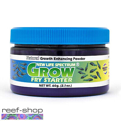 New Life Spectrum GROW FRY STARTER Powder 60g Baby Fish Food Free USA Shipping