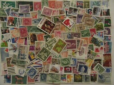 150 Canada Stamps - Used - All Different - Off Paper - Lot 4
