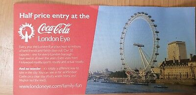 Half Price London Eye Tickets. Voucher Coupon 50% Off Up To 5 People til Dec 19